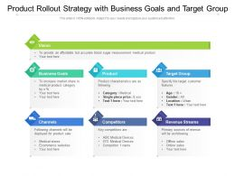 Product Rollout Strategy With Business Goals And Target Group
