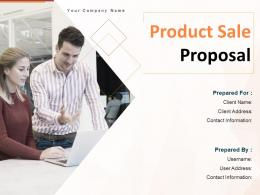 Product Sale Proposal Powerpoint Presentation Slides