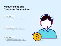 Product Sales And Consumer Service Icon