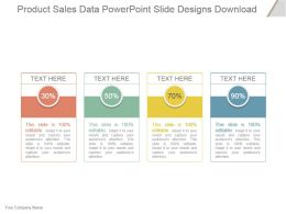 Product Sales Data Powerpoint Slide Designs Download