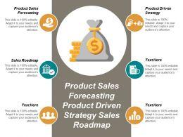 Product Sales Forecasting Product Driven Strategy Sales Roadmap Cpb