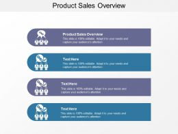 Product Sales Overview Ppt Powerpoint Presentation Slides Topics Cpb