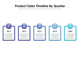 Product Sales Timeline By Quarter