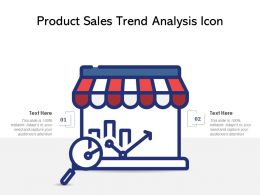 Product Sales Trend Analysis Icon