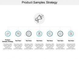Product Samples Strategy Ppt Powerpoint Presentation Infographics Example Cpb