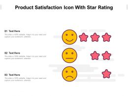 Product Satisfaction Icon With Star Rating