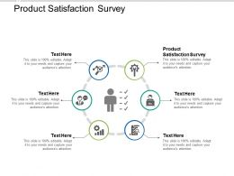 Product Satisfaction Survey Ppt Powerpoint Presentation Infographic Template Rules Cpb