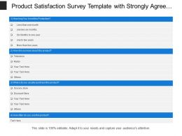 Product Satisfaction Survey Template With Strongly Agree And Disagree