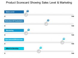 Product Scorecard Showing Sales Level And Marketing