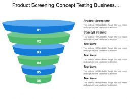 Product Screening Concept Testing Business Financial Analysis Product Development