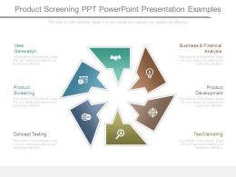 Product Screening Ppt Powerpoint Presentation Examples