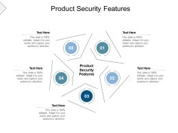 Product Security Features Ppt Powerpoint Presentation Model Slides Cpb