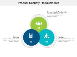 Product Security Requirements Ppt Powerpoint Presentation Professional Grid Cpb