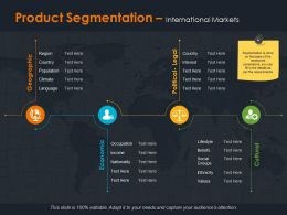 Product Segmentation International Markets Ppt Summary Design Inspiration