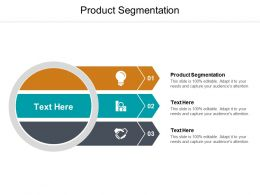 Product Segmentation Ppt Powerpoint Presentation Show Visuals Cpb