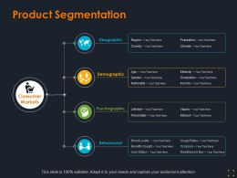 Product Segmentation Ppt Summary Graphics Template