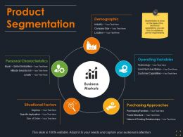 Product Segmentation Ppt Visual Aids Background Images