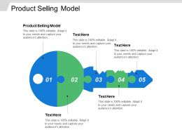 Product Selling Model Ppt Powerpoint Presentation Ideas Images Cpb
