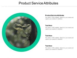 Product Service Attributes Ppt Powerpoint Presentation Infographic Template Infographic Template Cpb