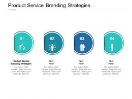 Product Service Branding Strategies Ppt Powerpoint Presentation Show Cpb
