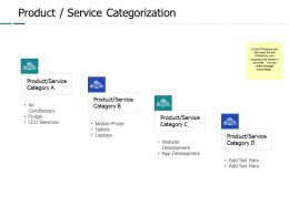 Product Service Categorization Ppt Powerpoint Presentation File Example