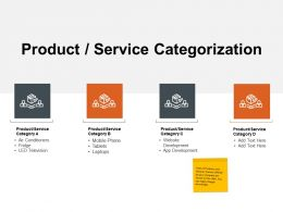 Product Service Categorization Ppt Powerpoint Presentation Icon Slides