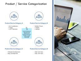 Product Service Categorization Website Development Ppt Powerpoint Presentation Shapes