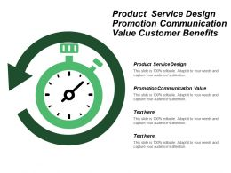 Product Service Design Promotion Communication Value Customer Benefits