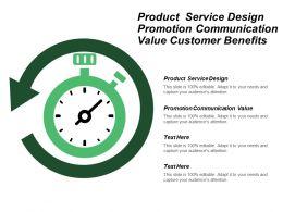 Product Service Design Promotion Communication Value Customer Benefits