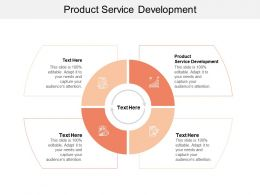 Product Service Development Ppt Powerpoint Presentation Pictures Inspiration Cpb
