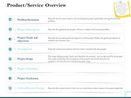 Product Service Overview Critical Success Ppt Powerpoint Presentation Images