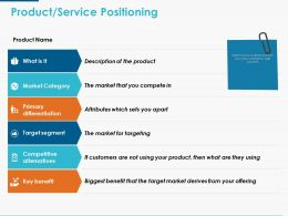 Product Service Positioning Ppt Powerpoint Presentation Icon Graphic Tips