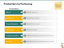 Product Service Positioning Target Segment Ppt Powerpoint Icon Example