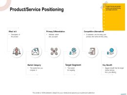 Product Service Positioning They Using Ppt Powerpoint Presentation Gallery Elements