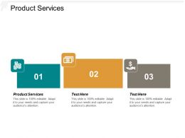 Product Services Ppt Powerpoint Presentation Layouts Graphic Images Cpb