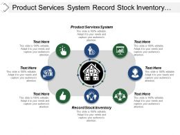 Product Services System Record Stock Inventory Service Equipment