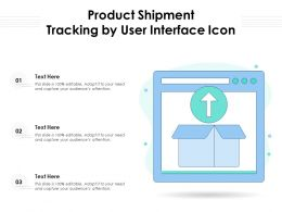 Product Shipment Tracking By User Interface Icon