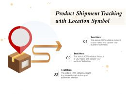 Product Shipment Tracking With Location Symbol