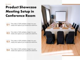 Product Showcase Meeting Setup In Conference Room