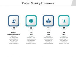 Product Sourcing Ecommerce Ppt Powerpoint Presentation Summary Graphics Example Cpb