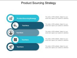 Product Sourcing Strategy Ppt Powerpoint Presentation Ideas Icon Cpb