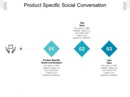 Product Specific Social Conversation Ppt Powerpoint Presentation Pictures Slides Cpb