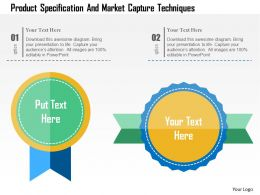 Product Specification And Market Capture Techniques Flat Powerpoint Design