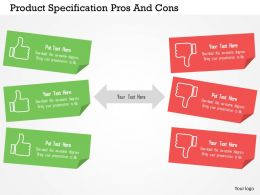 Product Specification Pros And Cons Flat Powerpoint Design