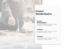 Product Standardization Ppt Powerpoint Presentation Icon Clipart Images Cpb