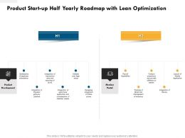 Product Start Up Half Yearly Roadmap With Lean Optimization