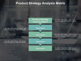 Product Strategy Analysis Matrix Ppt Powerpoint Presentation Infographic Template Cpb