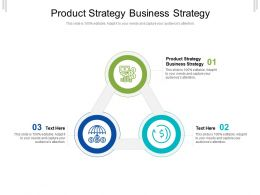 Product Strategy Business Strategy Ppt Powerpoint Presentation Show Icon Cpb