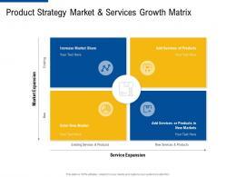 product strategy market and services growth matrix ppt template