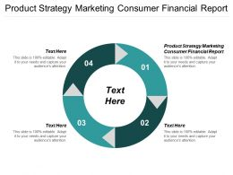 Product Strategy Marketing Consumer Financial Report Ppt Powerpoint Presentation Layouts Vector Cpb